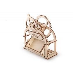 SCRIGNO DEL TESORO UGEARS modellino in legno 3D Puzzle meccanico 61 pezzi porta biglietti da visita