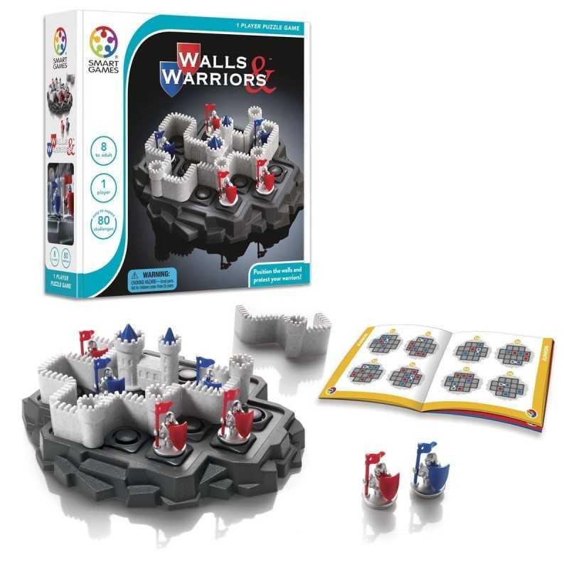 WALLS AND WARRIORS gioco rompicapo solitario Smart Games Castello da 8 anni
