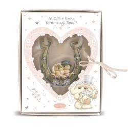 FERRO DI CAVALLO in resina regalo matrimonio Buona Fortuna agli Sposi Fizzy Moon