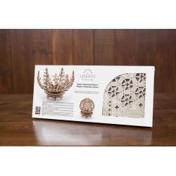 FIORE MECCANICO IN LEGNO UGEARS da montare modellismo 101 pezzi puzzle 3D