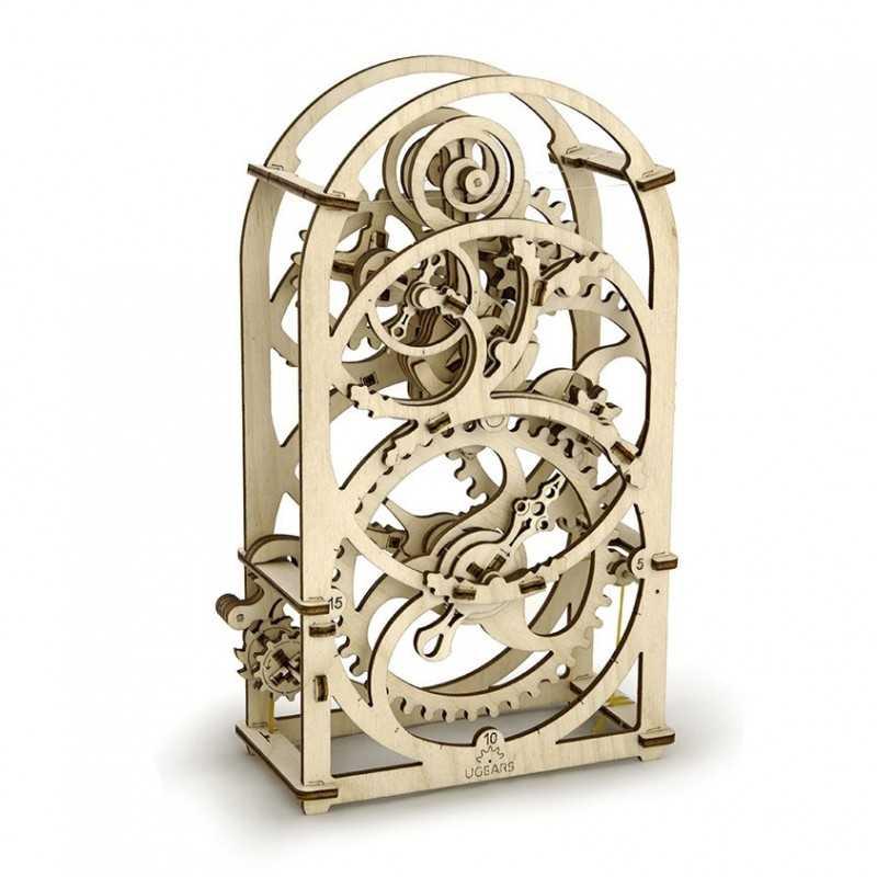 TIMER 20 MINUTI IN LEGNO UGEARS da montare modellismo 107 pezzi puzzle 3D meccanico cronometro