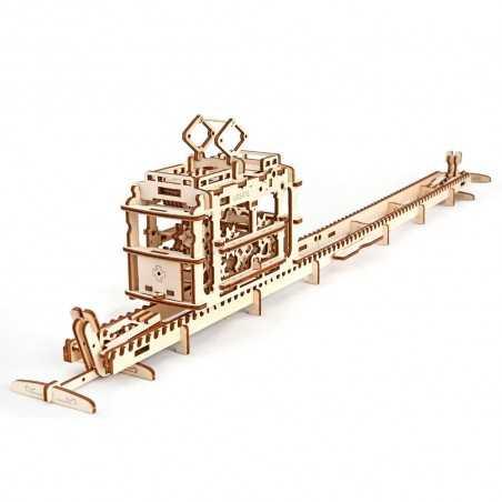 TRAM FUNIVIA IN LEGNO UGEARS da montare modellismo 154 pezzi puzzle 3D