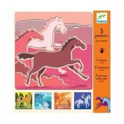 """Stencil """"Horses"""""""