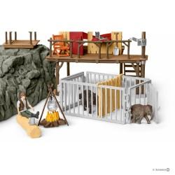 STAZIONE DI RICERCA nella giungla CROCO miniature in resina SCHLEICH 42350 wild