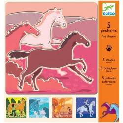 "Schablone ""Horses"""