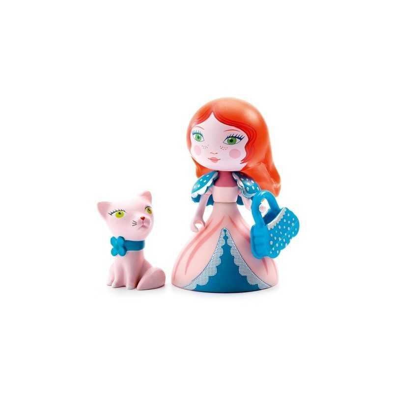 ROSA & CAT principesse ARTY TOYS action figure DJECO in resina DJ06777 snodabile MINIATURA età 4+