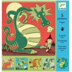"""Dragons"" Stencil"