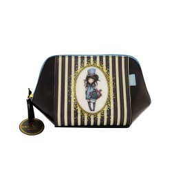 MAXI TROUSSE stripe THE HATTER Gorjuss A RIGHE Santoro 763GJ01 classic SHOULDER BAG borsa