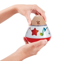 CARILLON A TROTTOLA rotating music box HAPE gioco in legno MUSICALE bebè E0332 da 0 mesi +