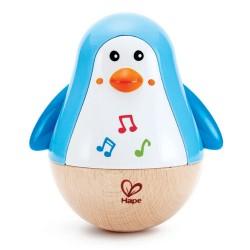 GIROSCOPIO MUSICALE PINGUINO penguin musical wobber HAPE gioco MUSICA bebè E0331 da 6 mesi +
