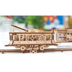 TRAM LINE in legno UGEARS da montare PUZZE 3D 284 pezzi Mechanical Town