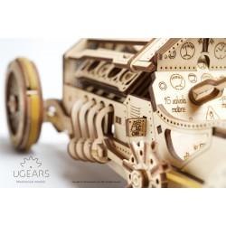 AUTO U-9 GRAND PRIX in legno UGEARS da montare PUZZLE 3D funzionante 348 pezzi