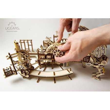 FABBRICA DEI ROBOT in legno UGEARS da montare Factory PUZZLE 3D 598 pezzi