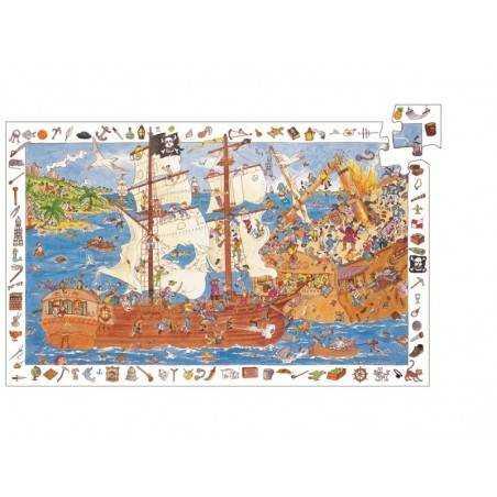 """Puzzle scoperta """"PIRATI"""", 100 pz, età 5-7"""