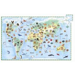 """Discovery Puzzle """"animals of the WORLD"""" 100 PCs, age 5-7"""