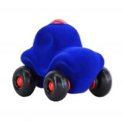MOTOWN POLICE CAR BLUE macchinina morbida della polizia BLU gomma naturale RUBBABU caucciu 100% NATURAL gioco tattile 1+