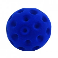 GOLF BALL BLUE palla morbida BLU gomma naturale RUBBABU caucciu GIOCO tattile 1+