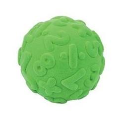 NUMERALS BALL GREEN palla morbida NUMERI VERDE gomma naturale RUBBABU caucciu GIOCO tattile 1+