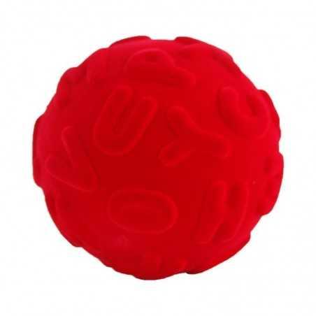 ALPHALEARN BALL RED palla morbida ALFABETO ROSSO gomma naturale RUBBABU caucciu GIOCO tattile 1+
