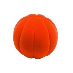 BASKET BALL ORANGE palla morbida ARANCIONE gomma naturale RUBBABU caucciu GIOCO tattile 1+