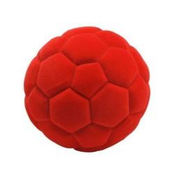 SOCCER BALL palla morbida da calcio ROSSA gomma naturale RUBBABU caucciu GIOCO tattile 1+