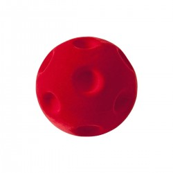 CRATER BALL RED palla morbida ROSSA gomma naturale RUBBABU caucciu GIOCO tattile 1+