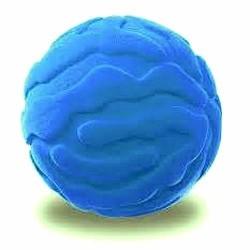 JELLYFISH BALL palla morbida MEDUSA BLU gomma naturale RUBBABU caucciu GIOCO tattile 1+
