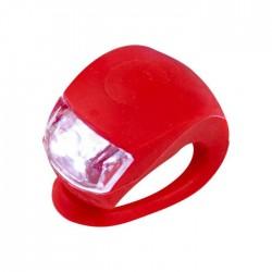 LUCE monopattino LED di sicurezza ROSSA silicone flessibile MICRO light RESISTENTE ALL'ACQUA tre regolazioni
