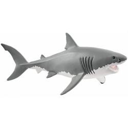 GRANDE SQUALO BIANCO 2018 animali in resina SCHLEICH miniature 14809 Wild Life GREAT WHITE SHARK