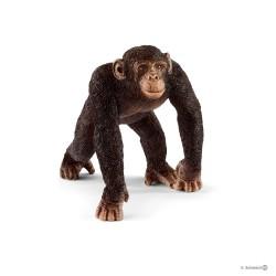 SCIMPANZE MASCHIO 2018 animali in resina SCHLEICH miniature 14817 Wild Life CHIMPANZEE età 3+