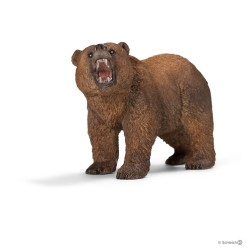 ORSO GRIZZLY 2018 animali in resina SCHLEICH miniature 14685 Wild Life BEAR età 3+