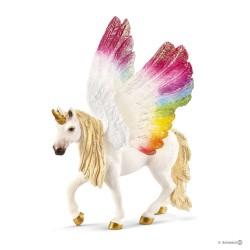 UNICORNO ARCOBALENO ALATO fantasy BAYALA animali in resina SCHLEICH miniature 70576 età 3+