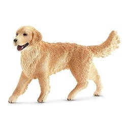 GOLDEN RETRIEVER FEMMINA animali in resina SCHLEICH miniature 16395 Farm World CANE età 3+