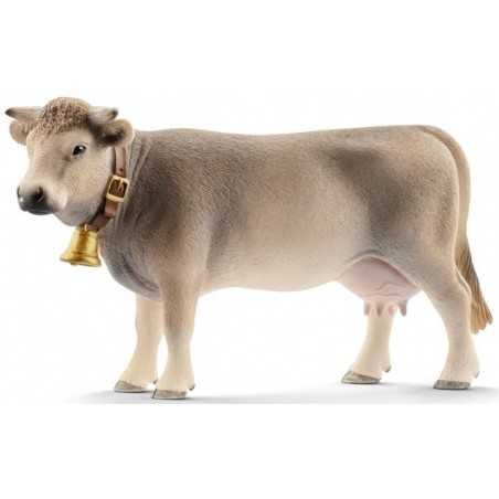 MUCCA BRUNA animali in resina SCHLEICH miniature 13874 Farm World COW età 3+