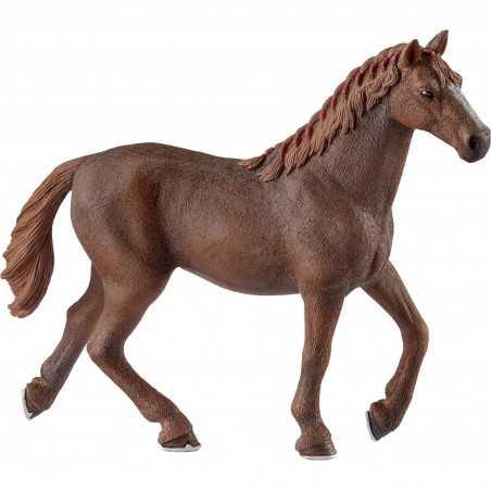GIUMENTA PUROSANGUE INGLESE 2018 cavalli in resina SCHLEICH miniature 13855 Farm World HORSE età 3+