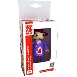 FIGLIA miniatura in legno FAMIGLIA casa delle bambole HAPE accessori E3507 modern family DAUGHTER età 3+