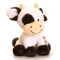 MUCCA cow PIPPINS 14 cm KEEL TOYS classico PUPAZZO bambola DAISY peluche BIANCA