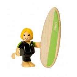PERSONAGGI BRIO WORLD in legno SURFISTA trenino 33850 seconda serie COLLEZIONE età 3+
