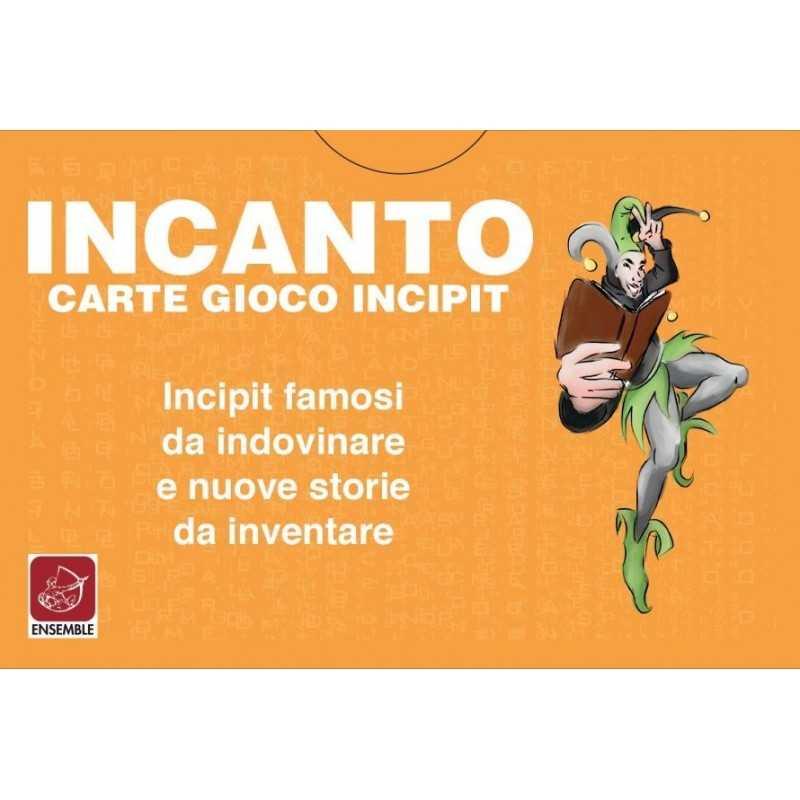 INCANTO carte da gioco INCIPIT famosi da indovinare NUOVE STORIE da inventare ENSEMBLE made in Italy