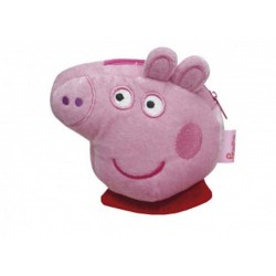 PORTAMONETE DI PEPPA PIG morbido PELUCHE con la zip PEPPAPIG porta monete ROSA
