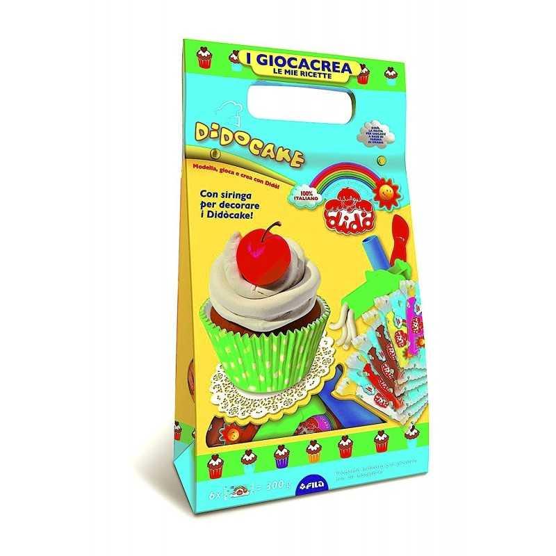 DIDO' giocacrea CAKE le mie ricette DIDO' fila DIDO pasta didò TORTA cupecake PASTICCINI set KIT età 3+