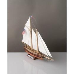 YACHT AMERICA nave in legno SM102 modellismo COREL LINE scala 1:155 da montare RIPRODUZIONE FEDELE