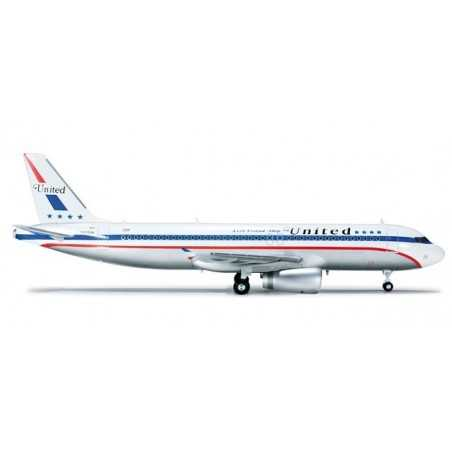 UNITED AIRLINES AIRBUS A320 85TH ANNIVERSARY Herpa Wings 554671 scala 1:200 plane model