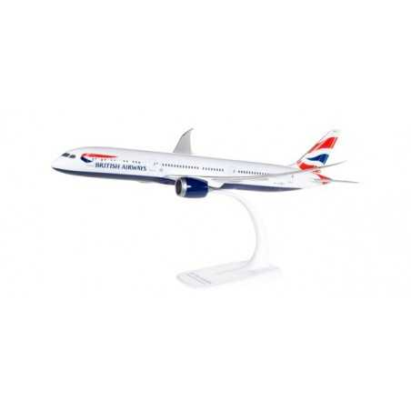 BOEING 787-9 BRITISH AIRWAYS aereo in plastica 611572 modellino HERPA SNAP FIT scala 1:200 da montare SENZA COLLA