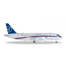 SUKHOI SUPERJET 100 aereo in metallo 554862 modellino HERPA WINGS scala 1:200 plane