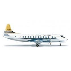 CONTINENTAL VICKERS VISCOUNT 800 aereo in metallo 554398 modellino HERPA WINGS scala 1:200 plane