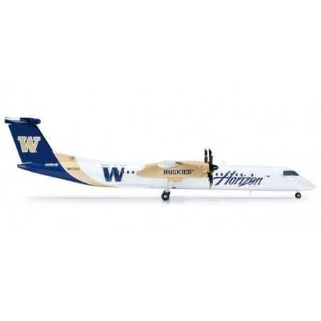 HORIZON AIR BOMBARDIER Q400 WASHINGTON HUSKIES aereo in metallo 552998 modellino HERPA WINGS scala 1:200 plane