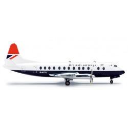 BRITISH AIRWAYS VICKERS VISCOUNT 800 aereo in metallo 554053 modellino HERPA WINGS scala 1:200 plane