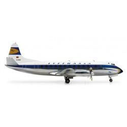 LUFTHANSA VICKERS VISCOUNT 814 aereo in metallo 554220 modellino HERPA WINGS scala 1:200 plane
