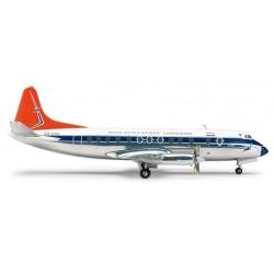 SOUTH AFRICAN AIRWAYS VICKERS VISCOUNT 814 aereo in metallo 553957 modellino HERPA WINGS scala 1:200 plane